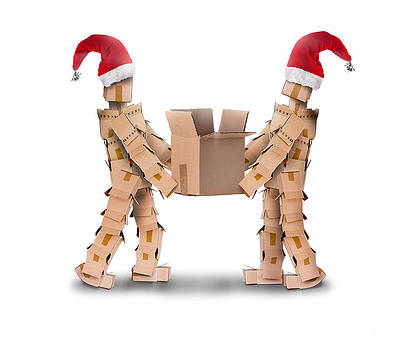 Two boxmen in christmas hats by Simon Bratt Photography LRPS