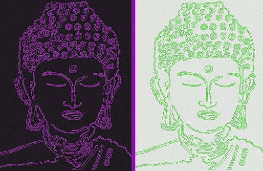 Two Buddhas by Christine Perry
