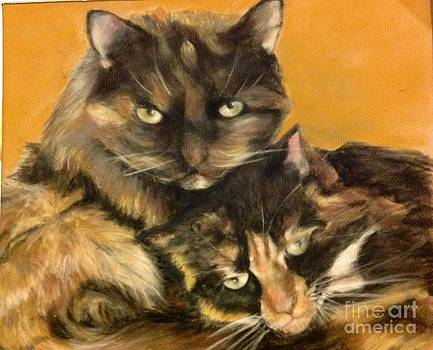 Two cats by Tanya Patey