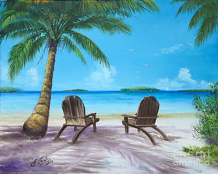 Two Chairs On The Beach by Earl Butch Curtis