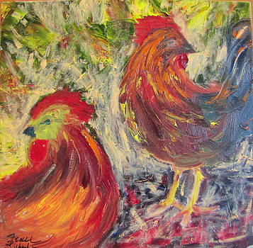 Two Chickens by Jenell Richards