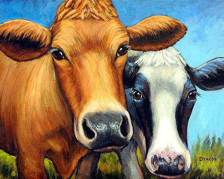Two Curious Cows by Dottie Dracos