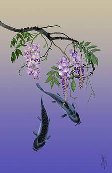 Two Fish under a Wisteria Tree by Matthew Schwartz