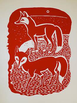 Two Foxes by Vadim Vaskovsky