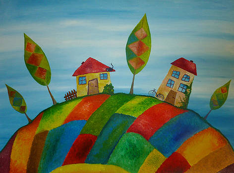 Two Houses by Beata Dagiel