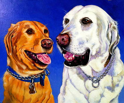 Two Labs by Bob Coonts