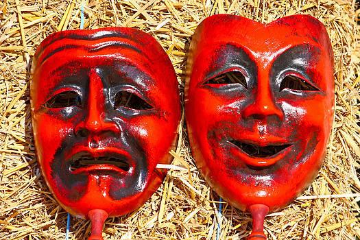 Two masks by Borislav Marinic