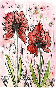Two Poppies by Georgia Piazza