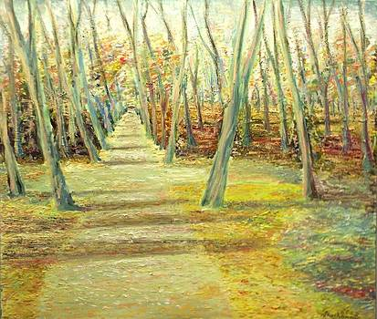 Two roads in a yellow wood by Alexander Bukhanov