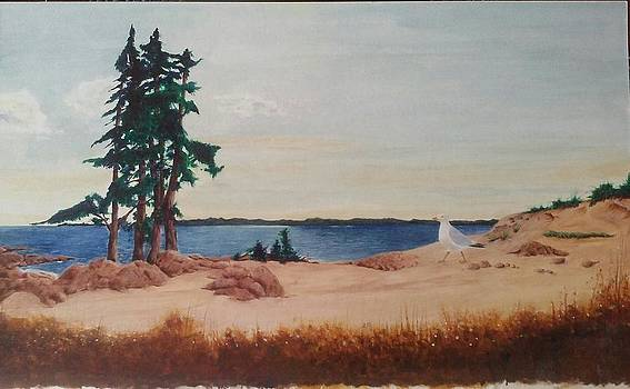 Two Trees Ocean Point Me by Tommy Rubel