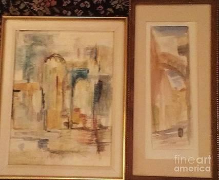 Two Views of Old Jerusalem  by Rose Hertzberg