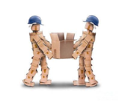Simon Bratt Photography LRPS - Two workmen lifting a box