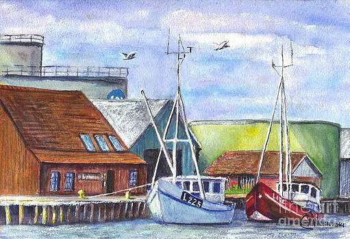 Tyboron Harbour in Denmark by Carol Wisniewski