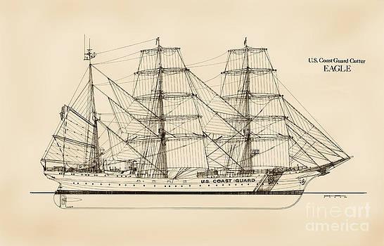 Jerry McElroy - Public Domain Image - U. S. Coast Guard Cutter Eagle - Sepia