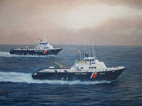 U. S. Coast Guard Surface Effects Ships Sea Sea Hawk and Shearwater  by William H RaVell III