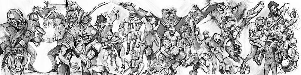 Uga Full Season Print  by John Gholson