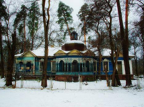 Ukraine Dacha round roof by Brian Orlovich