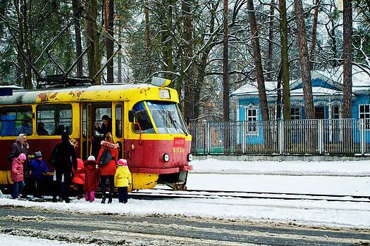 Ukraine Winter Trolley by Brian Orlovich