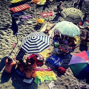 Umbrellas at the Beach by H Hoffman
