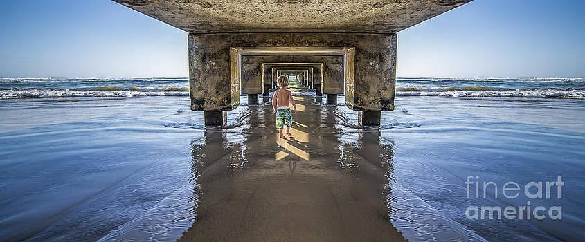 Under the Hanalei Pier Kauai by Dustin K Ryan