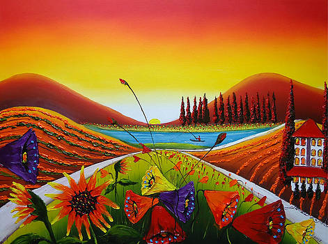 Under The Tuscan Sun 8 by Portland Art Creations
