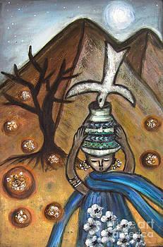 Une fille du desert Girl from Sahara Morocco by Rosemary Lim