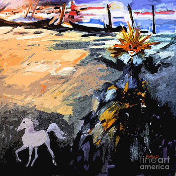 Ginette Fine Art LLC Ginette Callaway - Unicorn and I Carnival in Venice