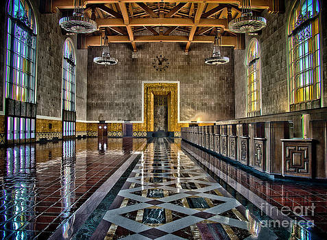 Union Station Interior- Los Angeles by David Doucot