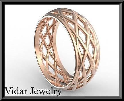 Unique 14k Rose Gold Woman Wedding Ring by Roi Avidar