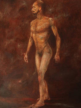 The Nude Walking by Pralhad Gurung