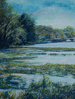Untitled Pastel Drawing by Wendell Lowe