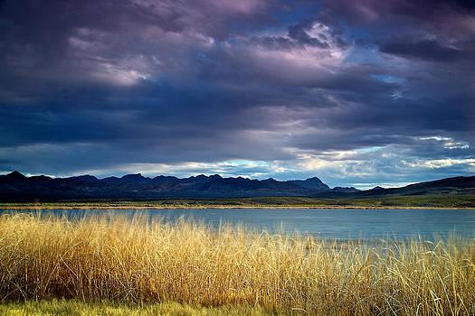 Upper Pahranagat Lake at Dusk by Joe Urbz