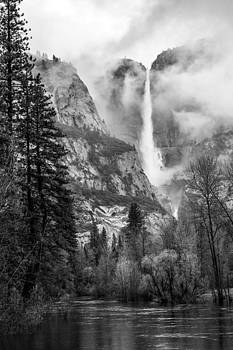 Upper Yosemite Falls and Merced River by Kay Price