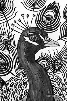 Upright Peacock by Megan Dirsa-DuBois