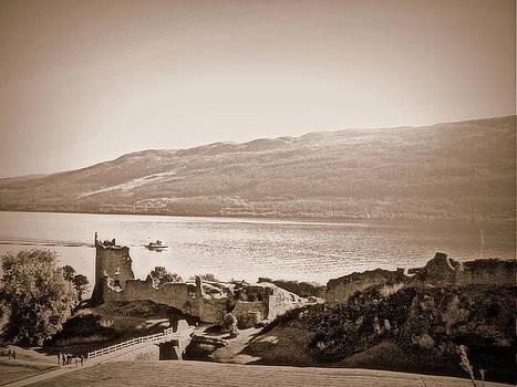 Urquhart Castle and Loch Ness Scotland by Bill Lighterness