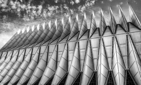 US Air Force Academy Chapel Colorado Springs by Geraldine Alexander