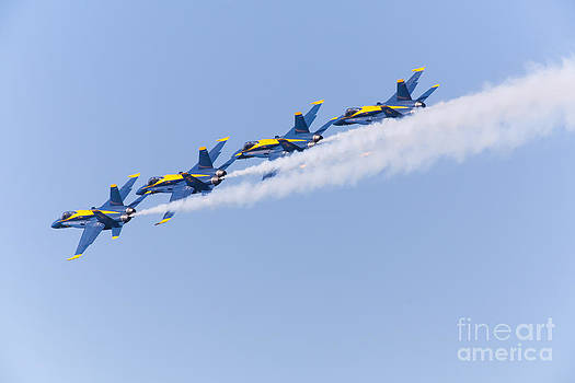 Wingsdomain Art and Photography - US Navy Blue Angels F18 Supersonic Jets 5D29646