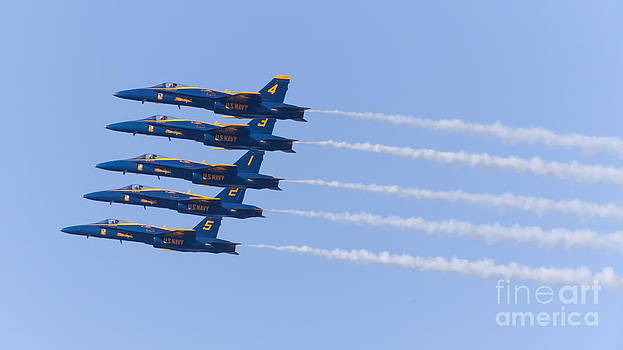 Wingsdomain Art and Photography - US Navy Blue Angels F18 Supersonic Jets 5D29655