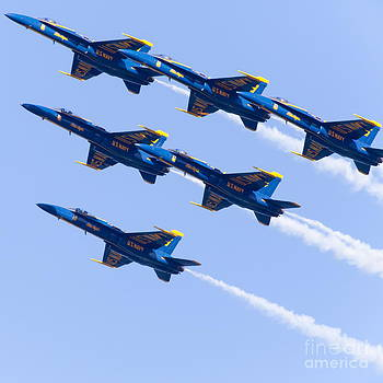 Wingsdomain Art and Photography - US Navy Blue Angels F18 Supersonic Jets 5D29679
