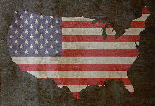 USA and Flag w/texture by Pete Trenholm