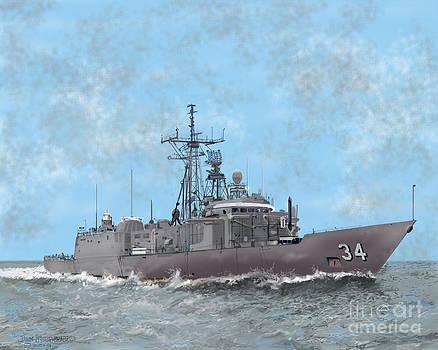 USN Frigate by Jim Hubbard