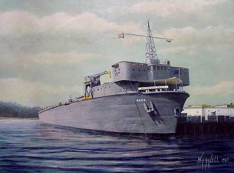 USS Waterford ARD-5 by William H RaVell III