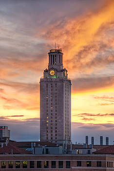 UT Tower Sunset HDR by Preston Broadfoot