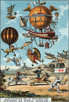 Science Source - Utopian Flying Machines 19th Century