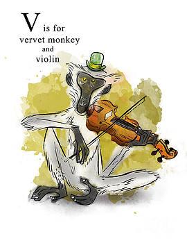 V is for Vervet Monkey by Sean Hagan