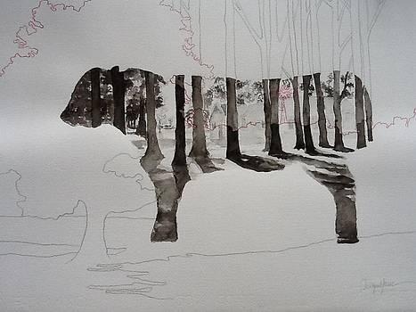 Vaca y arboles by Liliana Miguel Sanz