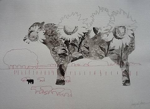 Vaca y girasoles by Liliana Miguel Sanz