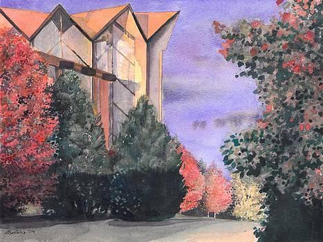 Valparaiso University Chapel in the Autumn by Sarah Kovin Snyder