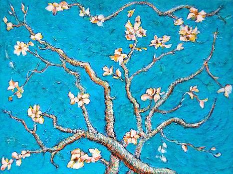 Ion vincent DAnu - Van Gogh Almond Blossom Slightly Interpreted