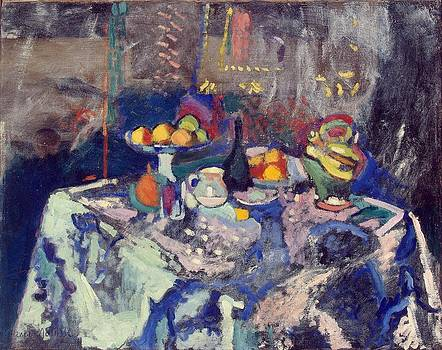 Vase Bottle and Fruit by Henri Matisse